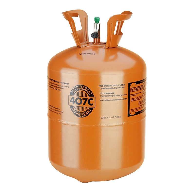 R407C Refrigerant, 25lb Cylinder, Disposable
